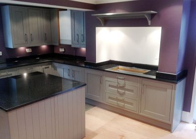 Star Galaxy granite worktops, upstands and island templated, manufactured and fitted by Millstone Designs