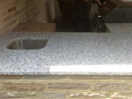 Granite worktop used outside for a BBQ area