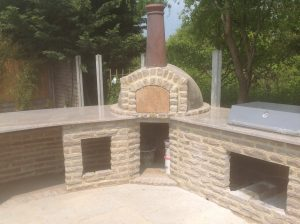 Granite BBQ area, worktops fitted in Essex by Millstone Designs