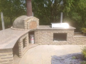 Granite BBQ area, fitted in Essex by Millstone Designs