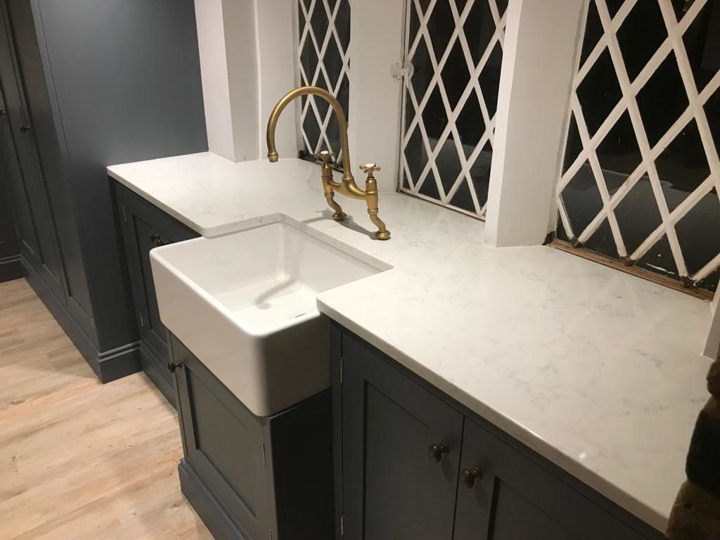 carrara quartz worktop